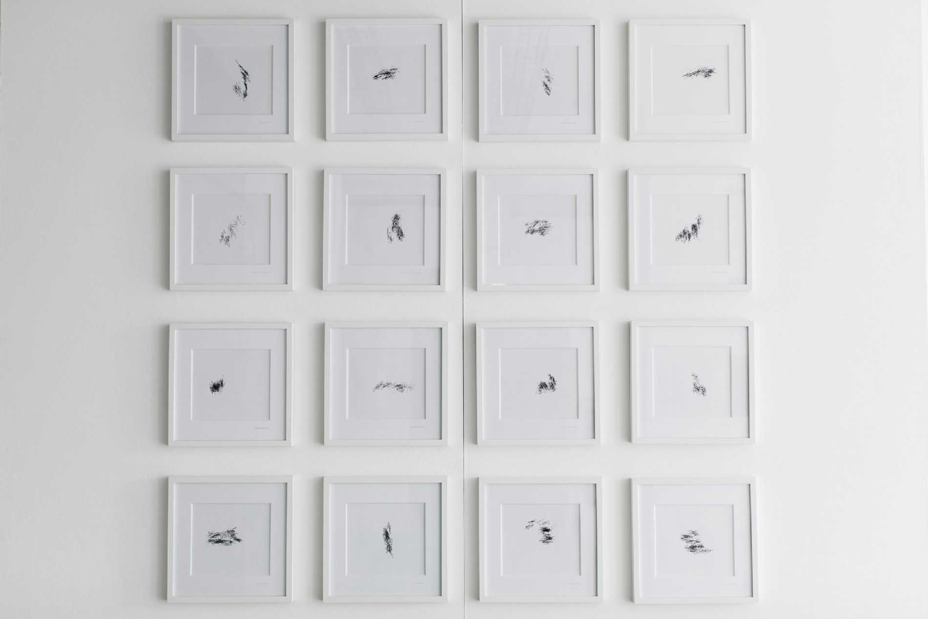 Voyager à travers le monde, 16 dessins, 30 x 30 cm